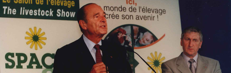 Visite de Jacques CHIRAC au SPACE 2001