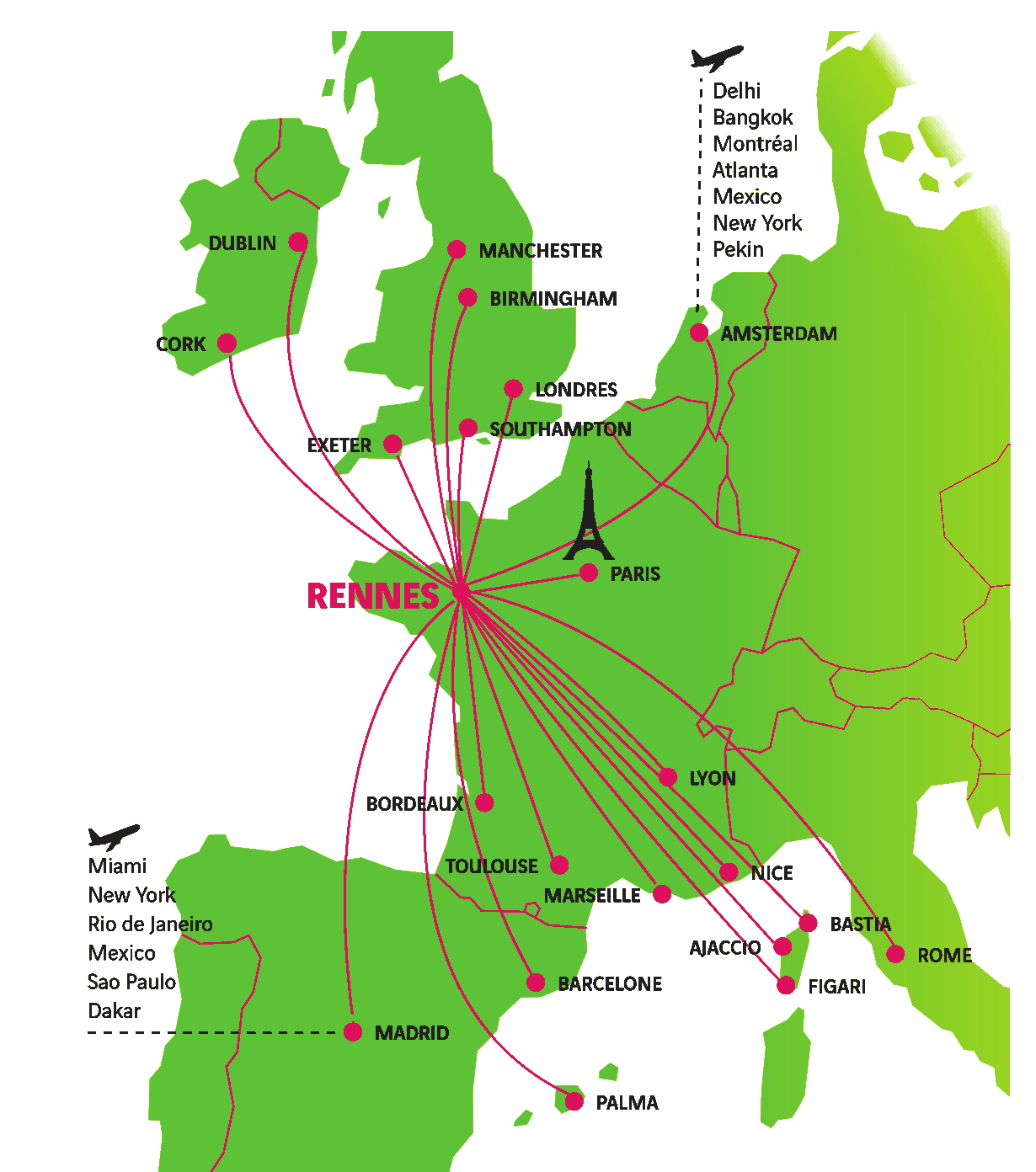 Liaisons aérienne de Rennes SPACE 2017