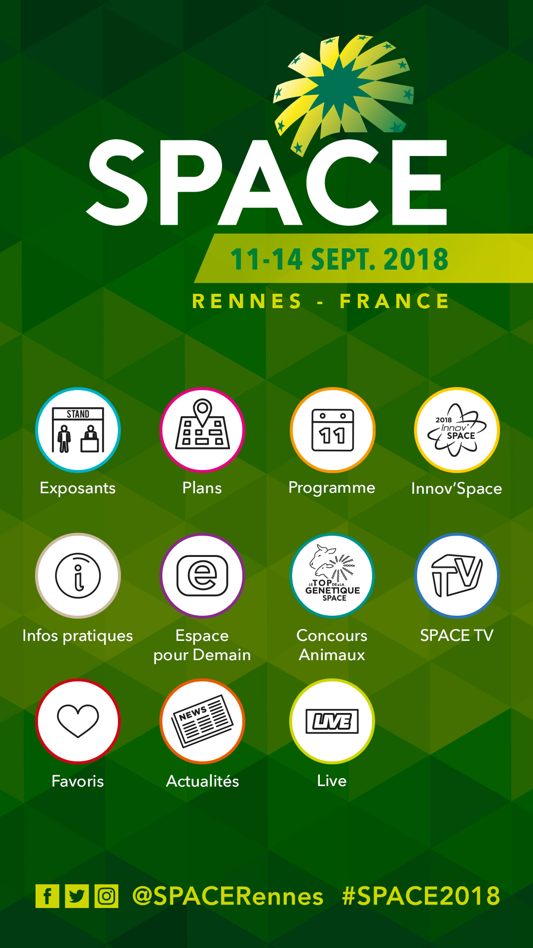 Application mobile du SPACE 2018