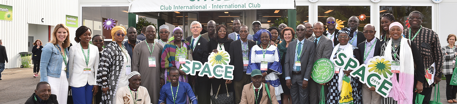 African delegation at SPACE